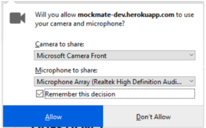 firefox allow 300x186 - Mozilla Firefox microphone and camera permission
