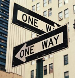 choice between two one way signs